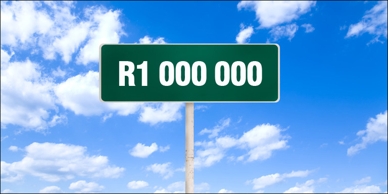 What income could you expect to get from a R1 million pension?